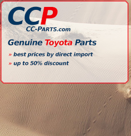 Toyota genuine parts: Astounding low prices and quick delivery!